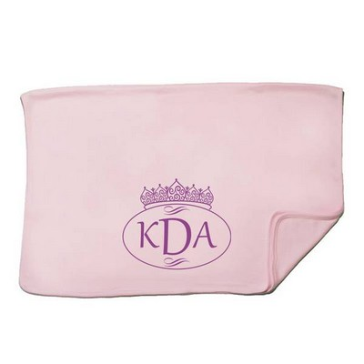 Pink Monogram Personalized Baby Receiving Blanket