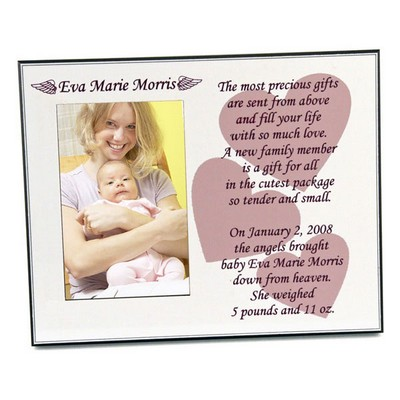 A Gift From Angels Baby Girl Picture Frame