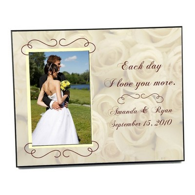 wedding roses photo frame - Engagement Photo Frame