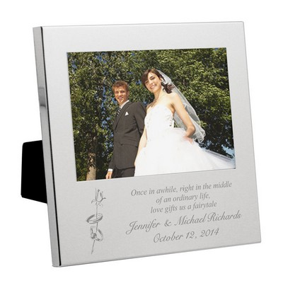 Elegant Silver Wedding Photo Frame