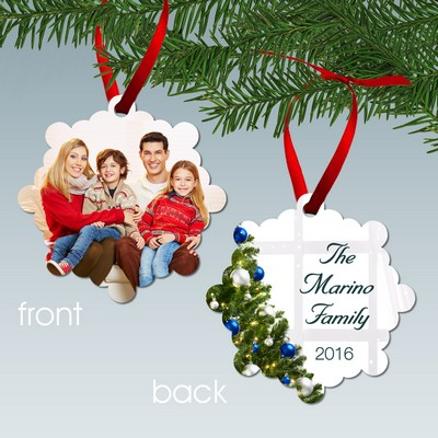 Family Photo Christmas Tree Personalized Metal Ornament