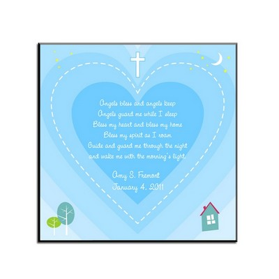 Personalized Bedtime Blessing Art Panel in Blue