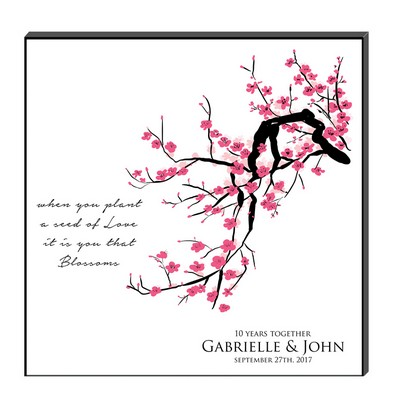 Cherry Blossom Personalized Wall Art Panel