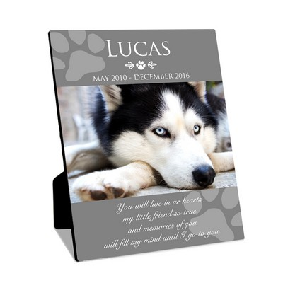 Personalized 8x10 Dog Memorial Photo Panel with Easel
