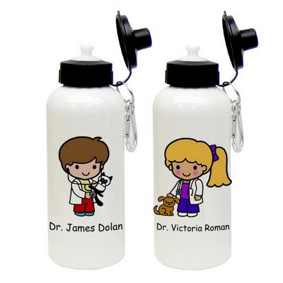 Custom Character Veterinarian Aluminum Water Bottle