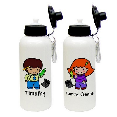 Custom Character Accountant Aluminum Water Bottle