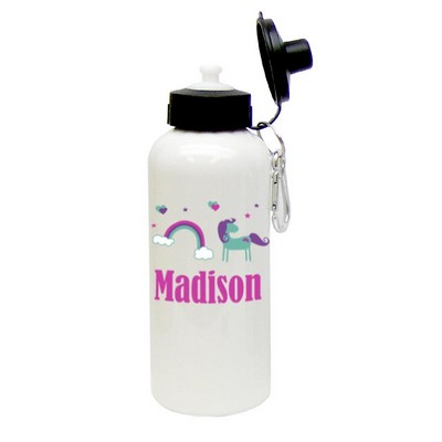 Personalized Rainbow Fantasy Water Bottle