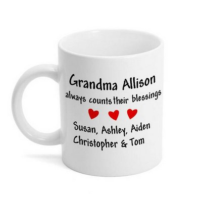 Count Your Blessings Mug for Grandparents