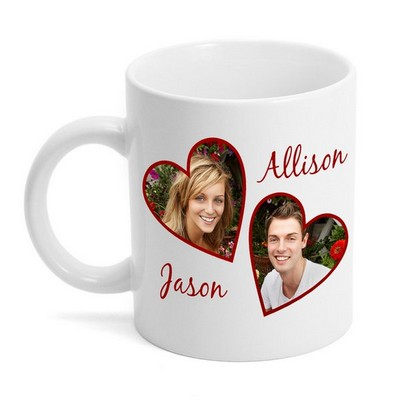 Valentine Hearts Photo Mug