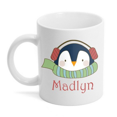 Personalized Penguin Holiday Coffee Mug