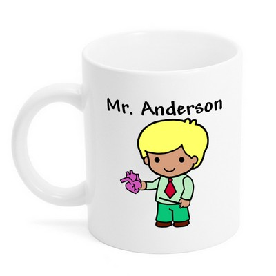 Custom Character Teacher Mug
