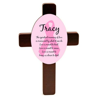 Pink Ribbon Breast Cancer Wall Cross