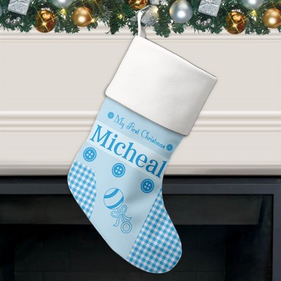 My First Christmas Personalized Stocking for Boys