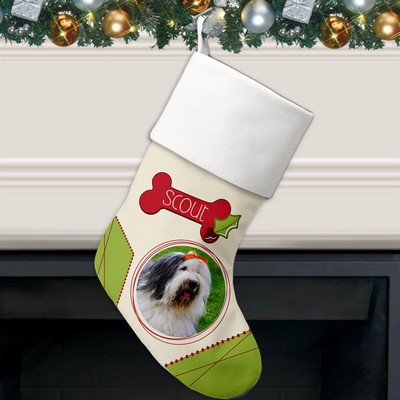 Personalized Holiday Photo Stocking For Dogs