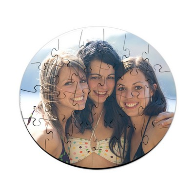 Design Your Own Photo Round Puzzle