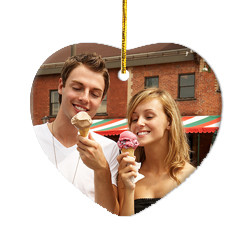 Design Your Own Photo Heart Ornament