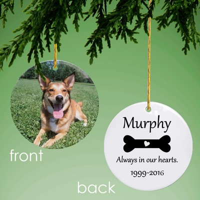 Dog Memorial Personalized Photo Ornament