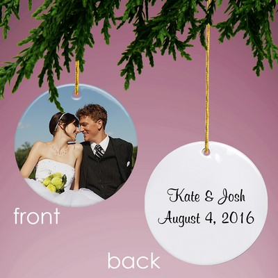 Design Your Own Photo Round Ornament