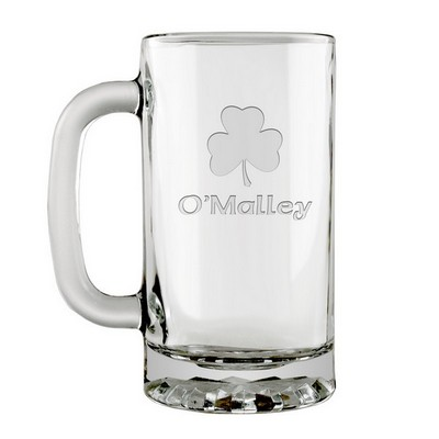 Shamrock Personalized Irish Beer Mug