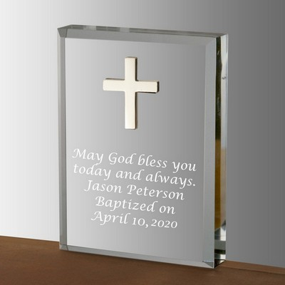 Elegant Cross Acrylic Keepsake