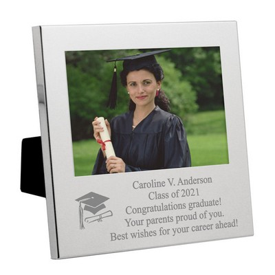 Silver Graduation Message From the Heart Frame