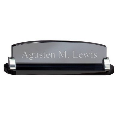 Smoked Glass Personalized Desk Name Plate