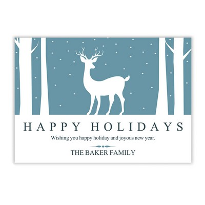 Snow Fall Holiday Card