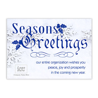 Holiday greeting cards memorable gifts snowflake seasons greeting corporate holiday card m4hsunfo