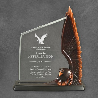 Soaring Eagle Company Logo Award Plaque
