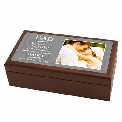 Special Daddy Personalized Wood Photo Keepsake Box