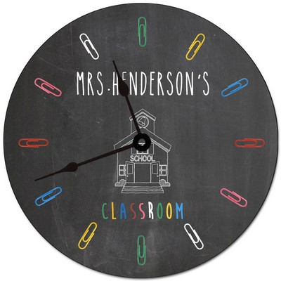 Teachers Classroom Personalized Wall Clock