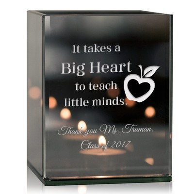 Teachers Personalized Reflective Tealight Candle Holder