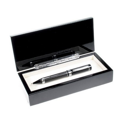 Black Carbon Fiber Barrel Single Pen Set