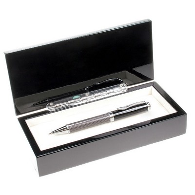 Personalized Carbon Fiber Finish Executive Pen Set