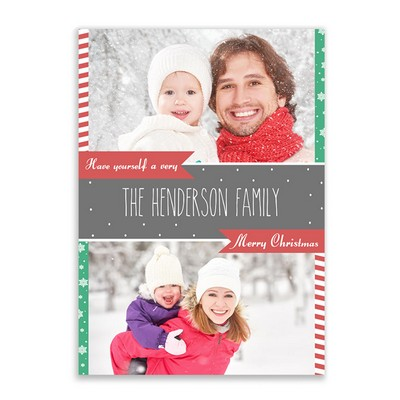 Very Merry Family Photo Christmas Card
