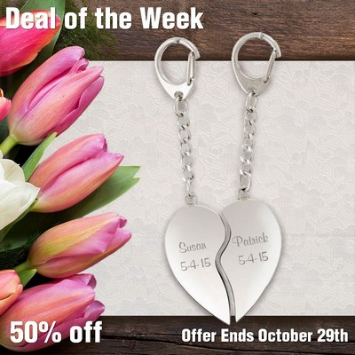 Special Sweethearts 2-Piece Silver Key Ring