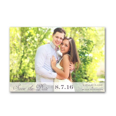 Classic Type 4x6 Wedding Announcement Cards