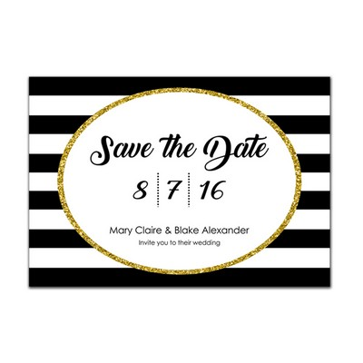 Glam 4x6 Wedding Announcement Cards