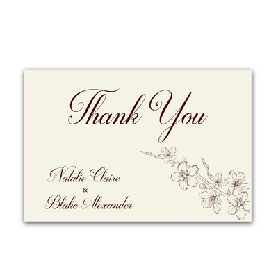 Lovely Floral 4x6 Wedding Thank You Cards