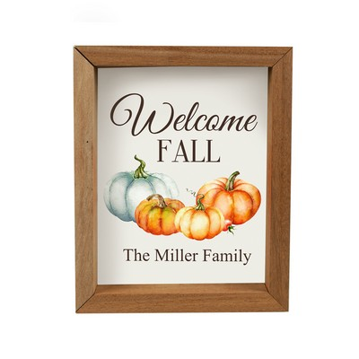 Welcome Fall Personalized Framed Wall Panel
