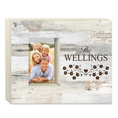 White Faux Wood Personalized Shadowbox Photo Frame