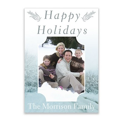 Winter Snow Family Photo Holiday Card