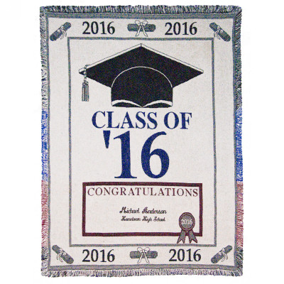 Class of 2016 Personalized Afghan